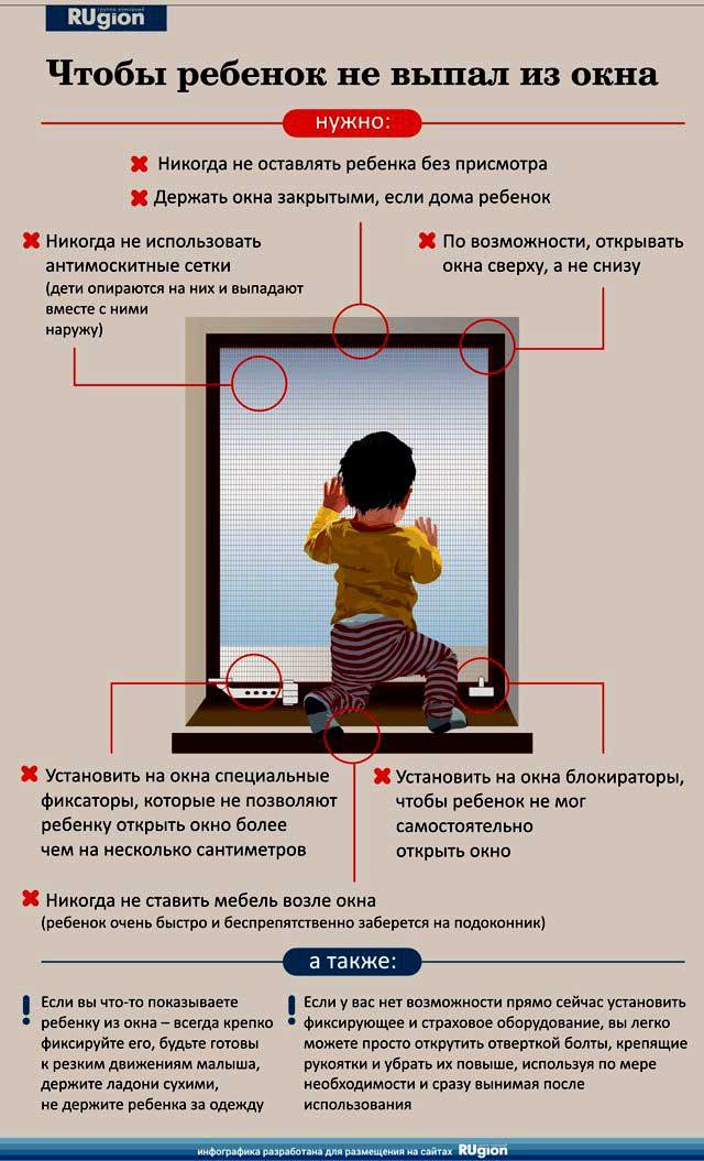 Чтобы ребенок не выпал из окна